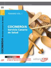 TEMARIO I - COCINERO / A DEL SERVICIO CANARIO DE SALUD