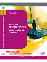 TEMARIO - AUXILIAR ADMINISTRATIVO DE LA UNIVERSIDAD DE CORD