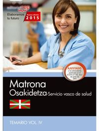 TEMARIO IV - MATRONA - OSAKIDETZA - SERVICIO VASCO DE SALUD