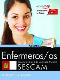 TEMARIO Y TEST COMUN - ENFERMEROS / AS (SESCAM) - SERVICIO DE SALUD DE CASTILLA