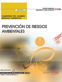 CP - CUAD PREVENCION DE RIESGOS AMBIENTALES (MF1974_3) - GESTION AMBIENTAL (SEAG0211)