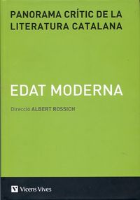 PANORAMA CRITIC DE LA LITERATURA CATALANA 3 - EDAT MODERNA