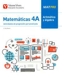 ESO 4 - MATEMATICAS - MAT PRO - ARITMETICA Y ALGEBRA