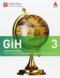 Eso 3 - Geografia I Historia (3.1-3.2) - Aula 3d (cat) - Aa. Vv.