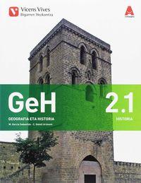 DBH 2 - GEOGRAFIA ETA HISTORIA (2.1-2.2) (PV) - 3D IKASGELA