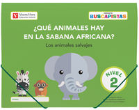 4 AÑOS - BUSCAPISTAS N 2 - ¿QUE ANIMALES HAY EN LA SABANA?