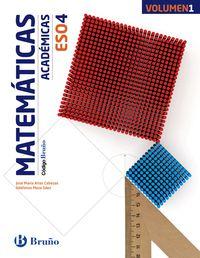 ESO 4 - MATEMATICAS (ACADEMICAS) (TRIM. ) - CODIGO BRUÑO (PV, NAV, LRIO, C. VAL, MAD, ARA, AST, CAN, CANT, CYL, CLM, CEU, EXT, GAL, MEL, MUR)