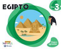 5 Años - Nivel 3 - Egipto - Quiero Aprender (pv, Nav, Lrio, C. Val, Mad, And, Ara, Ast, Can, Cant, Cyl, Clm, Ceu, Ext, Gal, Mel, Mur) - Aa. Vv.