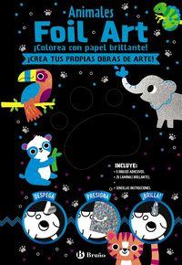 ANIMALES - FOIL ART - COLOREA CON PAPEL BRILLANTE