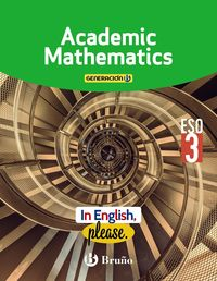 ESO 3 - MATEMATICAS ACADEMICAS (TRIM) (AND) (COLEG BILINGUES) - GENERACION B