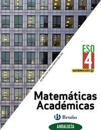 ESO 4 - MATEMATICAS ACADEMICAS (AND) - GENERACION B (CENTROS BILINGUES)