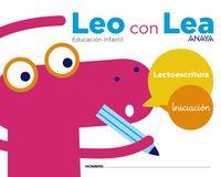 3 AÑOS - LEO CON LEA - INICIACION