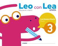 5 AÑOS - LEO CON LEA 3 - PAUTA