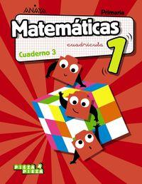 EP 1 - MATEMATICAS (AND) CUAD 3 CUADRICULA - PIEZA A PIEZA