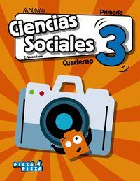 EP 3 - CIENCIAS SOCIALES (C. VAL) (CASTELLANO) CUAD - PIEZA A PIEZA