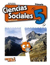 EP 5 - CIENCIAS SOCIALES (MUR) - PIEZA A PIEZA