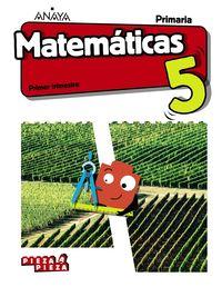 EP 5 - MATEMATICAS (AND) (+TALLER RESOLUCION PROBLEMAS) - PIEZA A PIEZA