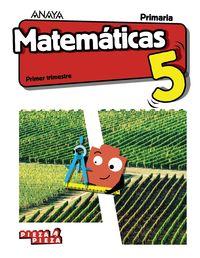 EP 5 - MATEMATICAS (CYL) (+TALLER RESOLUCION PROBLEMAS) - PIEZA A PIEZA