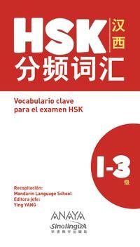 VOCABULARIO CLAVE PARA LA PREPARACION DE HSK 1-3