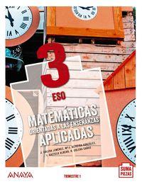 ESO 3 - MATEMATICAS APLICADAS (TRIM) (COLEG BILINGUES) (AND) - SUMA PIEZAS