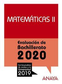 MATEMATICAS II - EVAU
