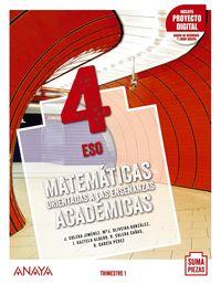 ESO 4 - MATEMATICAS ACADEMICAS TRIM (AND) (+DUAL FOCUS) - SUMA PIEZAS