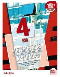 ESO 4 - MATEMATICAS APLICADAS (AND) (+DUAL FOCUS) - SUMA PIEZAS