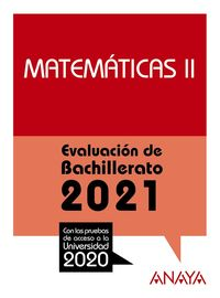 MATEMATICAS II - EVAU 2021