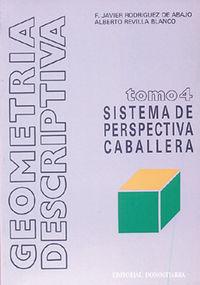 GEOMETRIA DESCRIPTIVA T.4 (SISTEMA DE PERSPECTIVA CABALLERA)