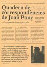 QUADERN DE CORRESPONDENCIES