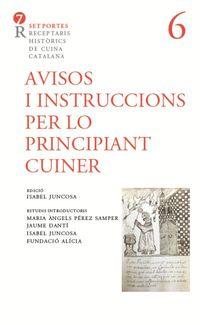 AVISOS I INSTRUCCIONS PER LO PRINCIPAT CUINER