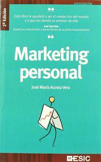Marketing Personal - Jose Maria Acosta Vera