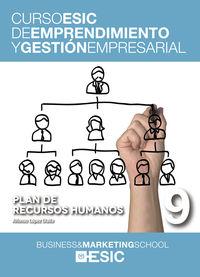 PLAN DE RECURSOS HUMANOS - CURSO ESIC 9