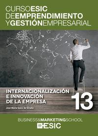 INTERNACIONALIZACION E INNOVACION DE LA EMPRESA - CURSO ESIC 13