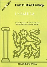 (3 Ed) Curso De Latin De Cambridge - Unidad Iii-A - Jose Hernandez Vizuete