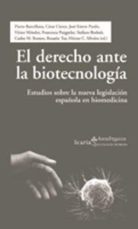 DERECHO ANTE LA BIOTECNOLOGIA, EL