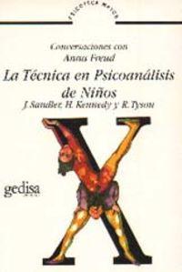TECNICA EN PSICOANALISIS DE NIÑOS, LA
