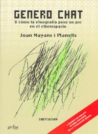 genero chat o como la etnografia puso un pie en el ciberespacio - Joan Mayans
