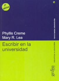 Escribir En La Universidad - Phyllips Creme / Mary R. Lea