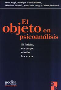 OBJETO EN PSICOANALISIS, EL
