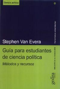 Guia Para Estudiantes De Ciencia Politica - Stephen Van Evera