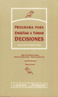 PROGRAMA PARA ENSEÑAR A TOMAR DECISIONES (TUTOR) - CUADERNO DEL TUTOR