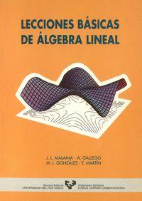 LECCIONES BASICAS DE ALGEBRA LINEAL
