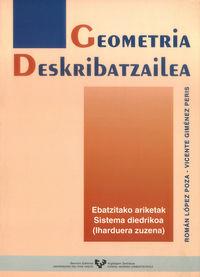 GEOMETRIA DESKRIBATZAILEA - SISTEMA DIEDRIKOA - EBATZITAKO ARIKETAK