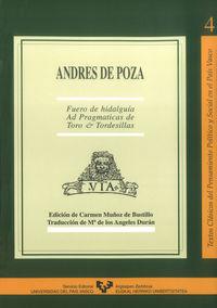 ANDRES DE POZA - FUERO DE HIDALGUIA