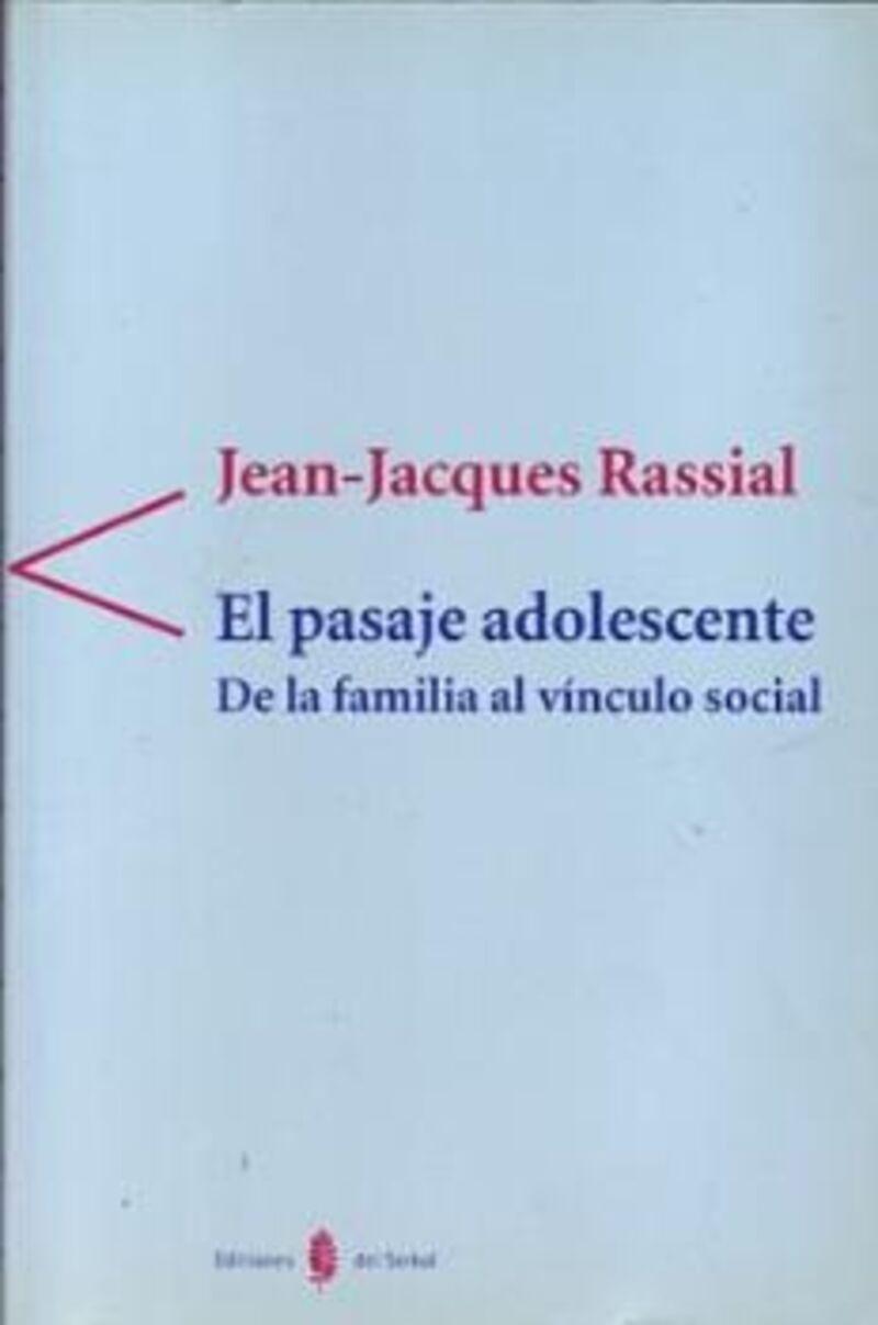 PASAJE ADOLESCENTE, EL - DE LA FAMILIA AL VINCULO SOCIAL