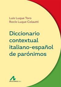 DICCIONARIO CONTEXTUAL ITALIANO-ESPAÑOL DE PARONIMOS