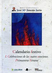 calendario festivo i - primavera-verano - Jose Maria Jimeno Jurio