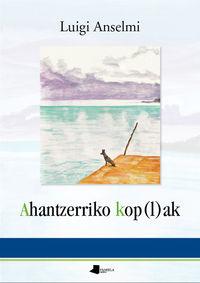 AHANTZERRIKO KOP (L) AK