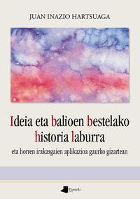 IDEIA ETA BALIOEN BESTELAKO HISTORIA LABURRA - ETA HORREN IKASGAIEN APLIKAZIOA GAURKO GIZARTEAN